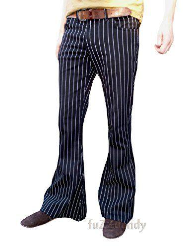 "350 kr. Mens Bell Bottoms Flares Pin Striped Pinstripe Black Trousers (30 waist x 30"" short leg) Fuzzdandy http://www.amazon.co.uk/dp/B00PQY43XU/ref=cm_sw_r_pi_dp_l7c5wb1D5CGA3"