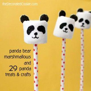 panda bear marshmallows