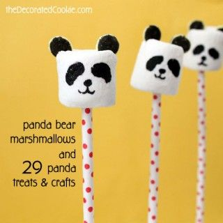 panda bear marshmallows                                                                                                                                                                                 More