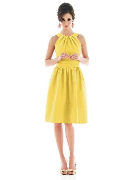 High Quality Yellow Bridesmaid Dress TOYE0283 - Yellow Homecoming Dresses