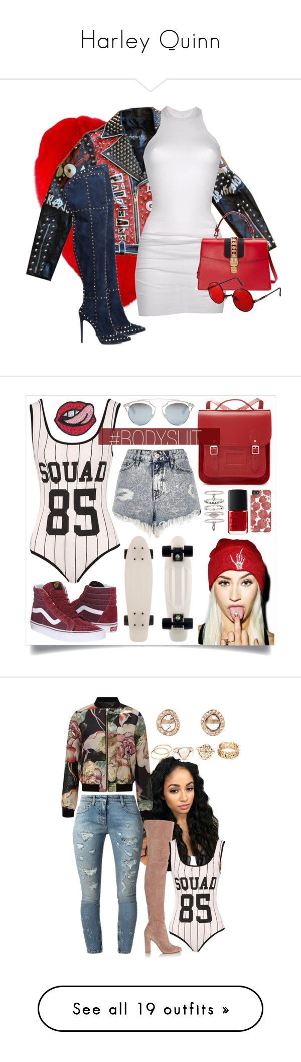 """Harley Quinn"" by catilynhartzog ❤ liked on Polyvore featuring shorts, pants, bottoms, short, black, short shorts, fringe shorts, diesel shorts, Yves Saint Laurent and DRKSHDW"