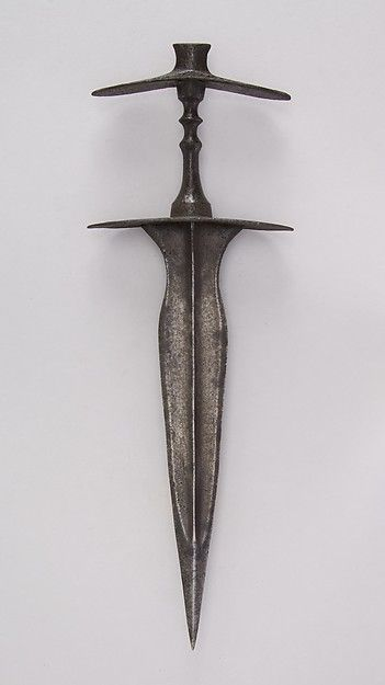 Dagger (Jamdhar Katari). Date: 17th–19th century. Culture: Indian, Hindu Kush. Medium: Steel.