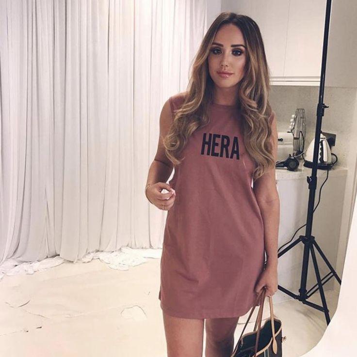 Charlotte Crosby in our UNISEX Vest -  #hera #heralondon #skinnyjeans #denim #unisexclothing