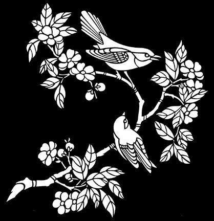 birds & blossom no 3 stencils stensils and stencles