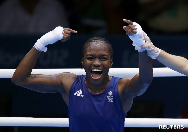 Great Britain's Nicola Adams became the first female boxer to win an Olympic gold medal in 2012.