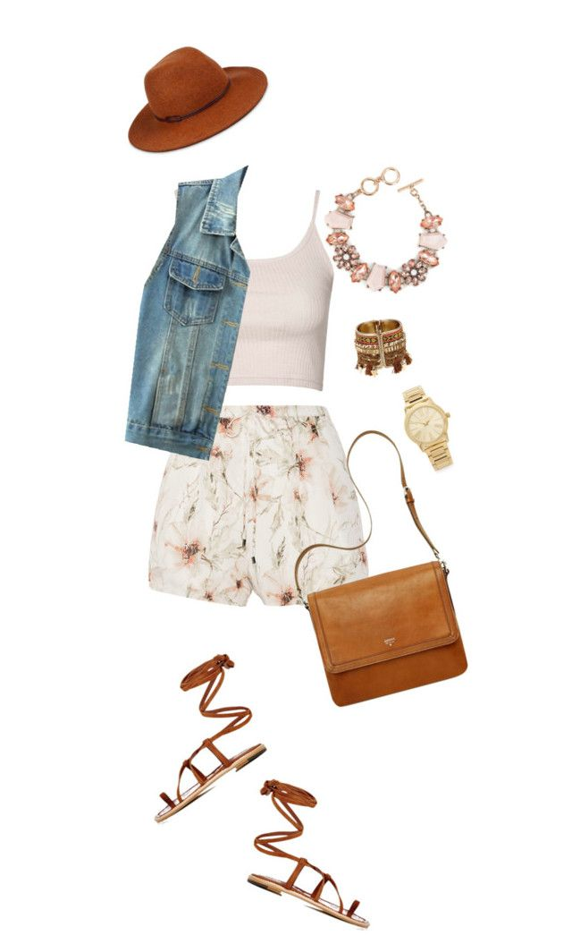 """""""Untitled #136"""" by birdinthethyme on Polyvore featuring Haute Hippie, Topshop, WithChic, Manolo Blahnik, Helen Kaminski, ShoeDazzle and Michael Kors"""