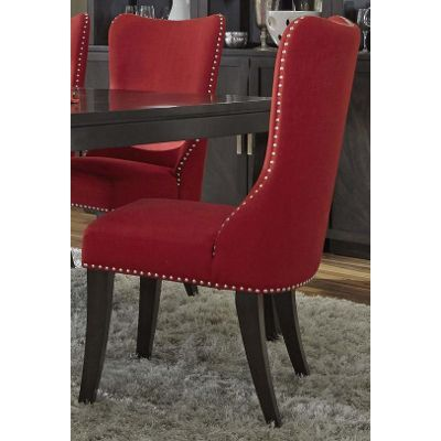 Red Upholstered Dining Room Chair   Platinum Collection