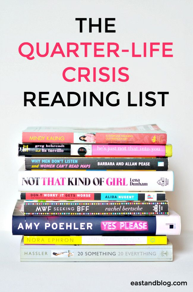 The Quarter-Life Crisis Reading List - Reading recommendations for twenty-something women who need to get out of a funk or just want to feel better about life | eastandblog.com