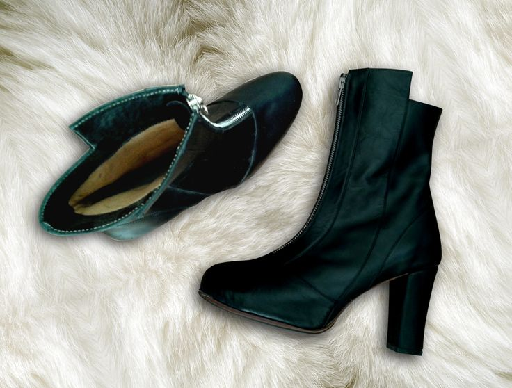 Shoes - Bota Negra- Boot - winter