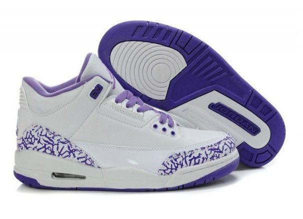 Air Jordan 3 Womens -- Purple Cement…