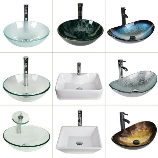 marble sink vanity and vessel sink