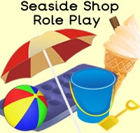 Seaside Shop Role Play Resources with resources like Seaside Shop opening times, clock, signs, prices, basket signs, worksheets, menu, Seaside Shop products, ice cream and lollipop toppings and flavours, , ice cream and seaside display lettering, themed borders and much more. For more of these resources please check out our site. These Seaside printables are all free to download, plus  we have 1000s more educational printables available to download. We hope you enjoy our role play…