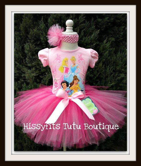 Beautiful Disney Princess Birthday Tutu Dress by HissyfitsTutus, $34.99