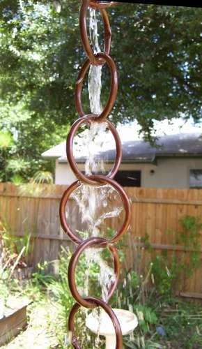 Fun ideas for DIY rain chains over at Garden Therapy.