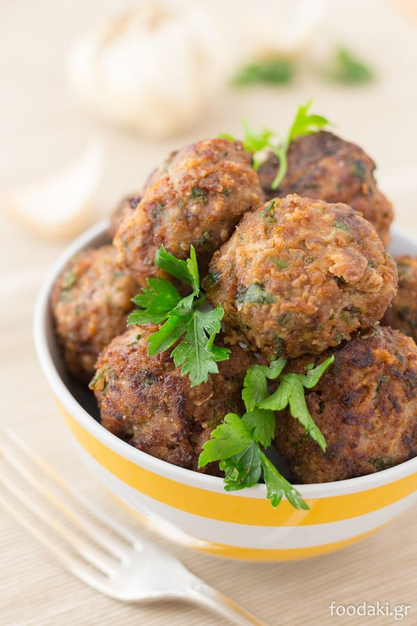 Greek meatballs stuffed with feta cheese and flavoured with Ouzo. Κεφτεδες με φετα και ουζο