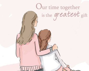 Mom and Daughter Art – Art for Moms – Inspirational Art for Women – Just Like You