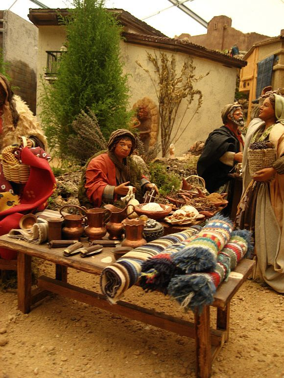 Part of Amazing Neapolitan Nativity Scene