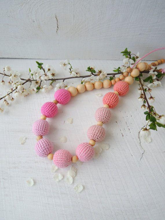 Nursing necklace Breastfeeding necklace Teething от ColoredYarn