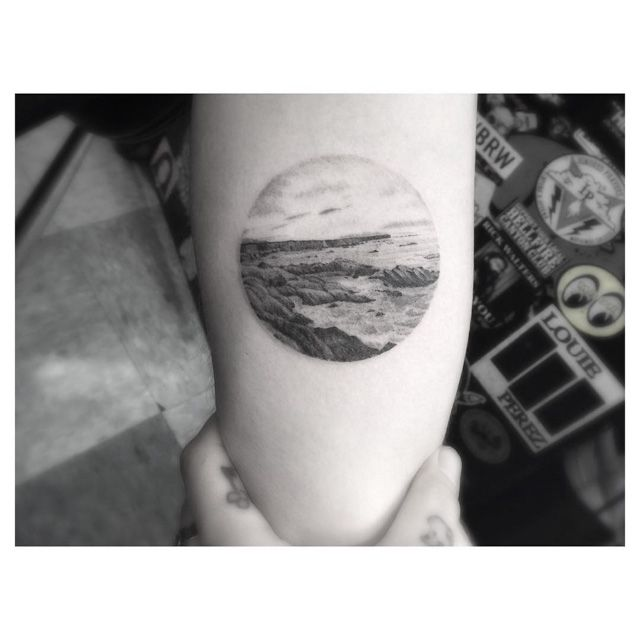 Tattoo Sea Landscape