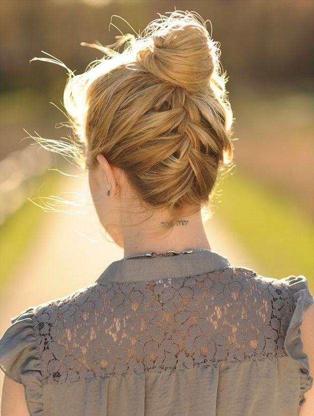 Les plus beaux chignons de Pinterest - Le chignon tressé dans la nuque