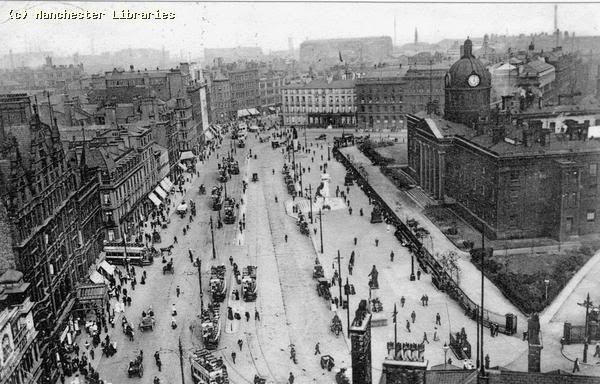 Manchester Infirmary now Piccadilly Gardens.