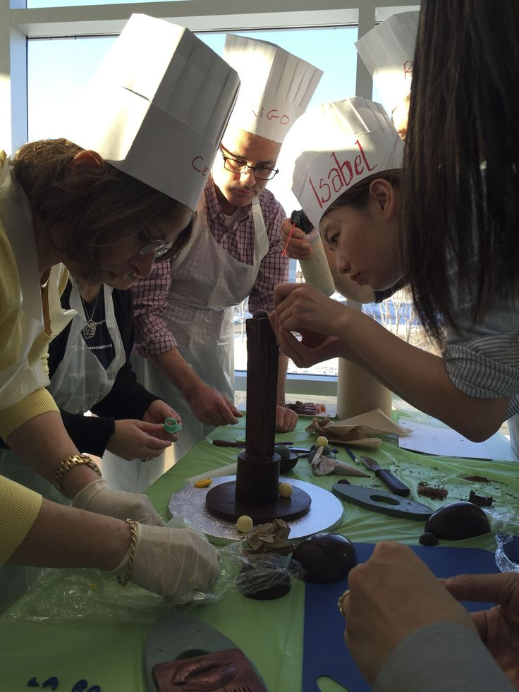 Chocolate sculpture challenge with  the team from La Rocca Creative Cakes.