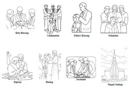 Priesthood Blessings and Ordinances - Coloring Sheet ...