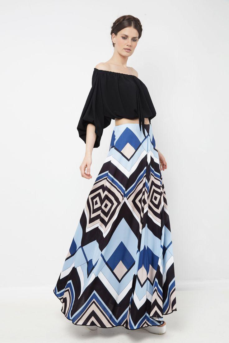 Φούστα μάξι ζέρσεϊ - Τοπ με λάστιχο στους ώμους http://mustb.fashion/katastima/blouzes/top-konto-me-lasticho/