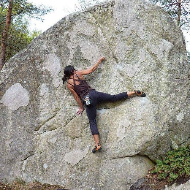 berlin_sandra #Bouldering in #Font #Buthiers. Can't wait to be back! #MEclimbing tcoutloudYes!