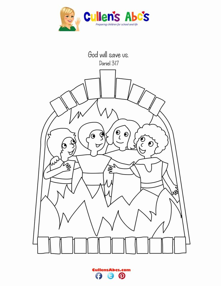 32 Shadrach Meshach and Abednego Coloring Page in 2020