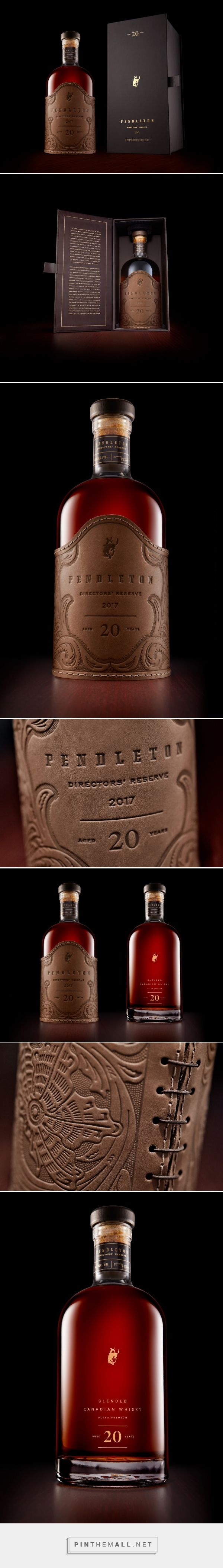 Pendleton Directors' Reserve packaging design by Cue - http://www.packagingoftheworld.com/2016/12/pendleton-directors-reserve.html