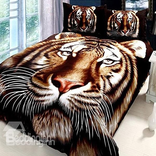 New Arrival High Quality Stunning Tiger Pirnt Mink