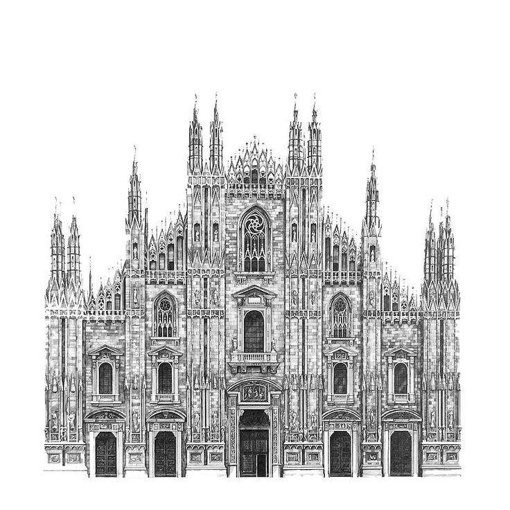 Il duomo cathedral milan architectural street and for Architecture dessin interieur