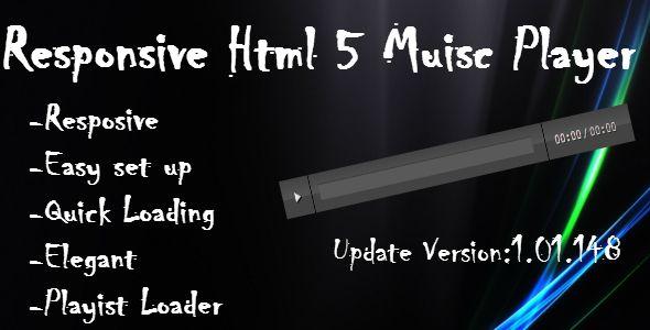 Responsive HTML 5 Music Player (Media)