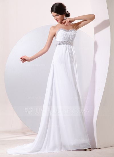 Evening Dresses - $132.49 - Empire Sweetheart Sweep Train Chiffon Evening Dress With Ruffle Beading Sequins (017014078) http://jjshouse.com/Empire-Sweetheart-Sweep-Train-Chiffon-Evening-Dress-With-Ruffle-Beading-Sequins-017014078-g14078