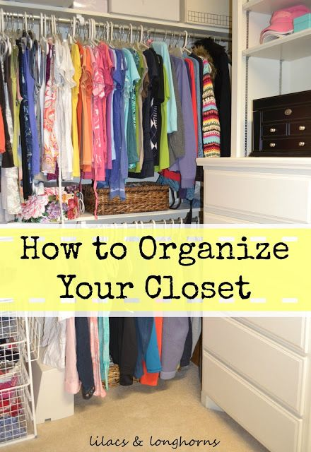 Tips for organizing a master bedroom closet *love this woman's blog*
