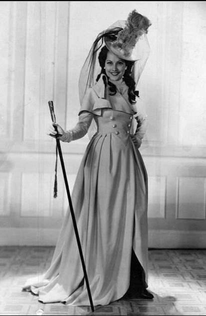 """love this coat- A positively festive Merle Oberon from """"The Scarlet Pimpernel""""."""
