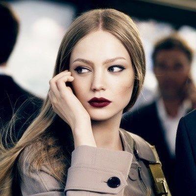 blonde with dark plum lip - Google Search