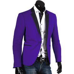 Пиджак Alcino приталенный цвет фиолетовый однотонный