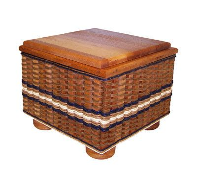 Ottoman Basket--Moms if you need somewhere for your kids to store their games and have a place to sit while they are playing the X-box, then this basket is for you! Also it will hold blankets, towels, shoes, books, magazines, or knitting and crochet supplies. Made In The USA! Lifetime Guarantee!