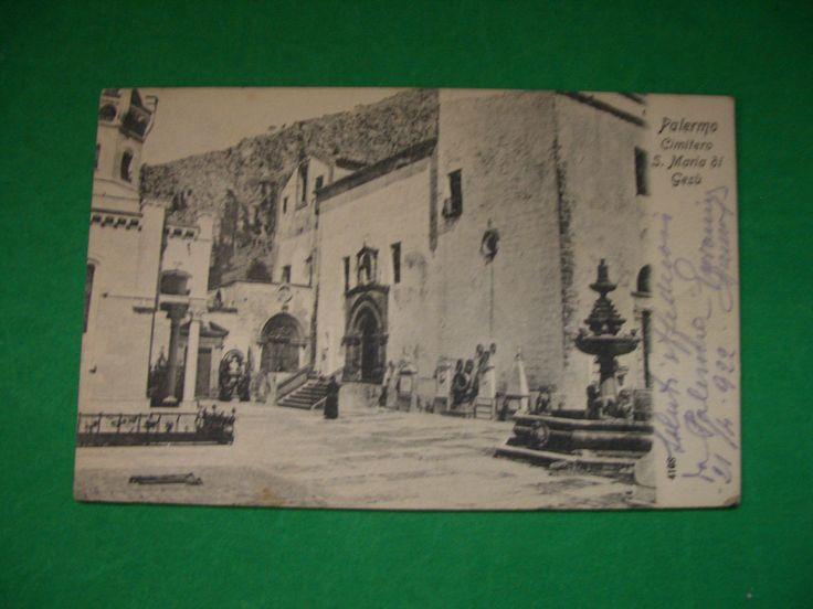 Palermo - Cimitero S. Maria di Gesù, viaggiata 1922
