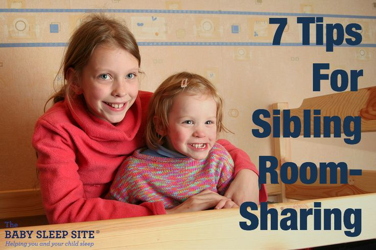 Siblings often share a room which can sometimes cause sleep problems. 7 tips for successful room sharing with babies and toddlers.