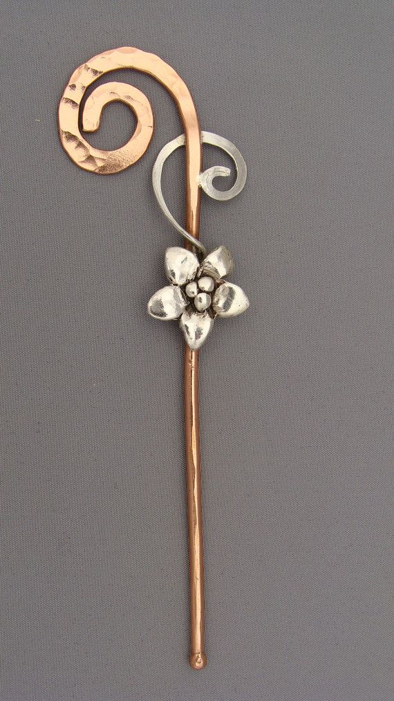 Shawl Pin by AmyNewsomDesign...would also be a beautiful hair stick