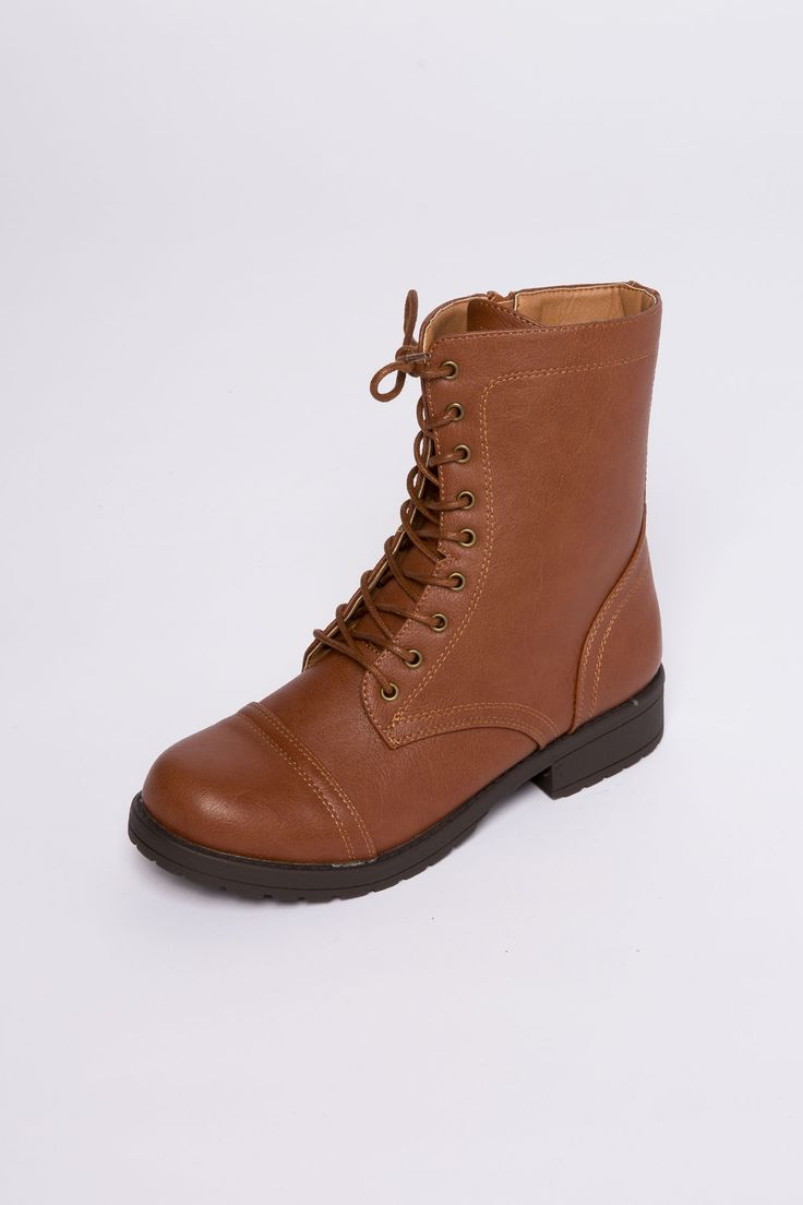 Girls Laceup Combat Boot