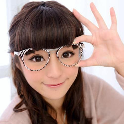 Oversized Glasses (Non-Prescription Lens Included) White and Brown - One Size