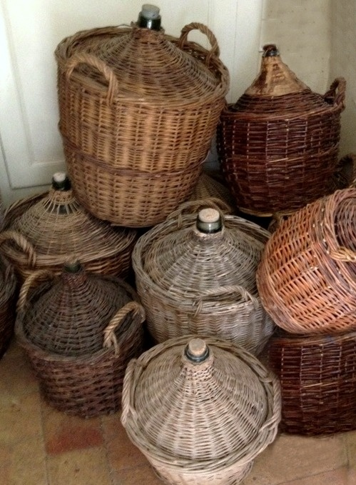 Variety of French wine jugs  xo--FleaingFrance: