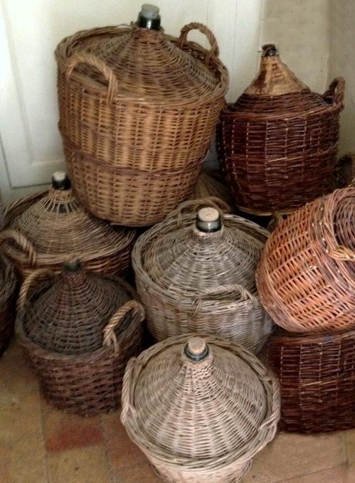 French wine jugs  xo--FleaingFrance