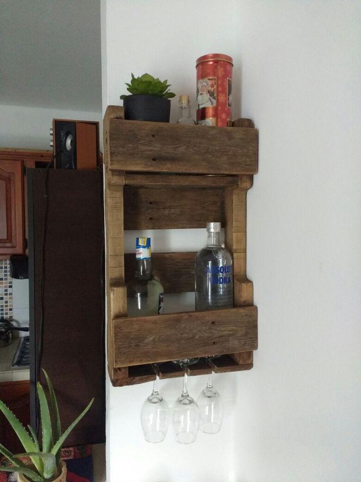 decoración porta licores Palets estibas DIY