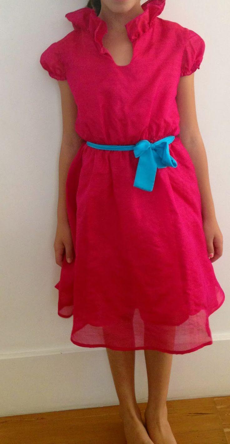 5th Grade Graduation Dress, Ses Petites Mains tiny chic clothingj, Cecelia dress in tissue silk