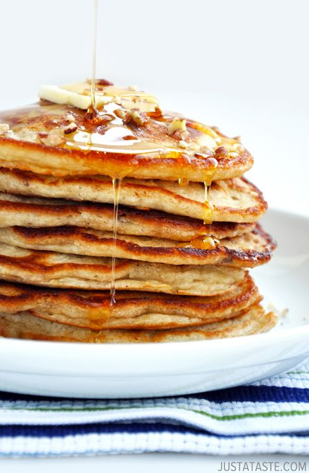 Pecan Wheat Pancakes With Maple Bourbon Strawberries Recipes ...